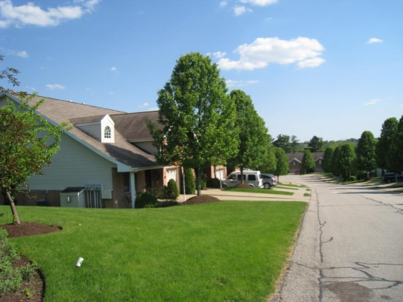 Worthington Townhomes...View from the entrance down the street